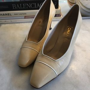 Chanel Classic Square Toed Pumps